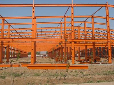 山西太原彩钢钢结总厂在建大型钢结构项目